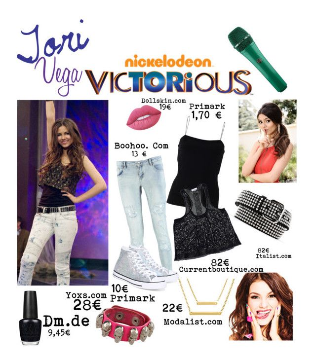 """""""Tori vega"""" by tali2406 on Polyvore featuring Mode, Boohoo, T By Alexander Wang, Parker, Dondup, Lime Crime, Converse, Malababa und OPI"""