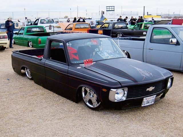 chevy luv. riding low.