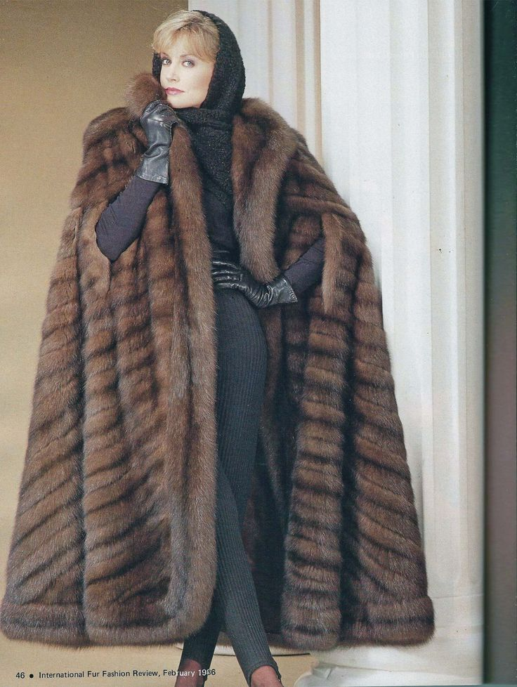 Sable fur cape