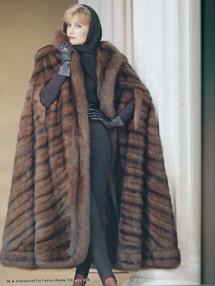 Sable fur cape