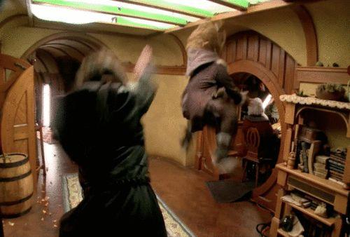kili from the hobbit gif | the hobbit fili kili KILI DOING A CARTWHEEL! DWARVES GONE WILD ...