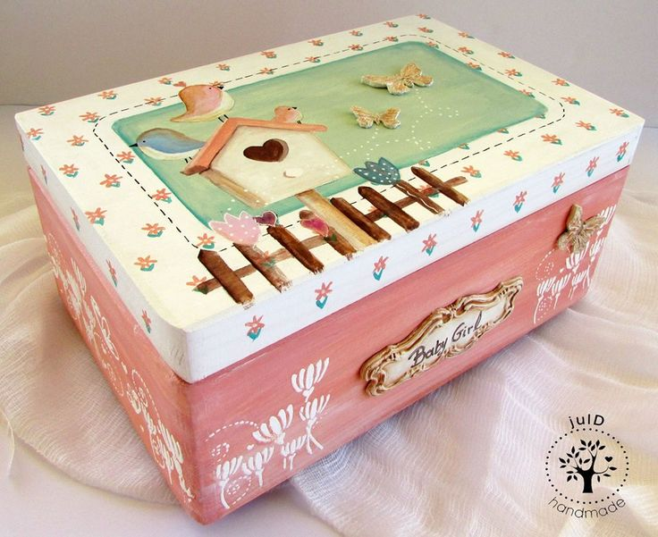 Handmade Baby Baby Girls Decorating Ideas Frames Boxes Kids Vintage Decoupage Decorated Boxes & 42 best Boxes with decoupage - ?????? ?? ????????? images on ... Aboutintivar.Com