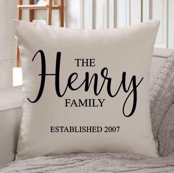 establish date decorative throw pillow
