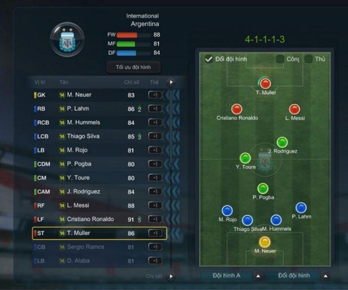 FIFA Online 3: Team Color siêu sao WC leo rank cực chất