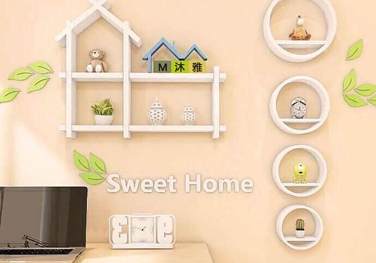 Pequena ripa casa fundo da parede da sala prateleiras decorativas suporte de prateleira enforcamentos de estar
