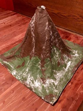 paper mache volcano to use again and again.