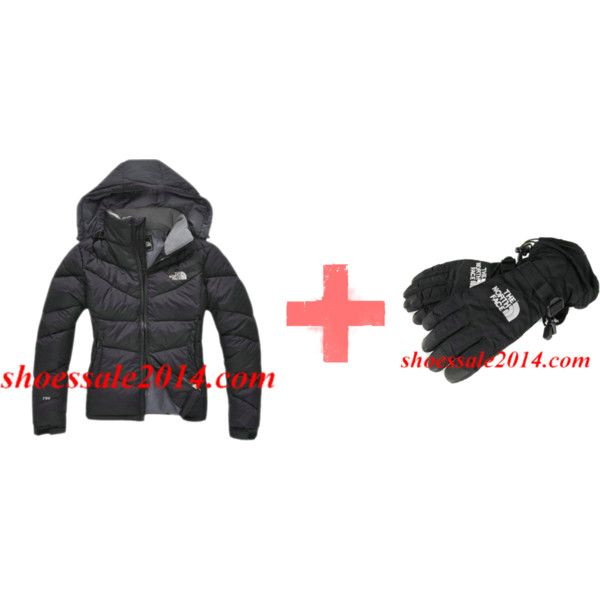 """""""Black North Face Down Jacket And Black North Face Gloves"""" by fashionace-682 on Polyvore"""