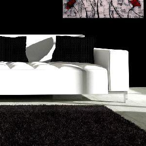 Arredo Perfetto - Arredamento Casa,Giardino E Ufficio - Tappeto Moderno 200 x 300cm Nero Shaggy a pelo alto