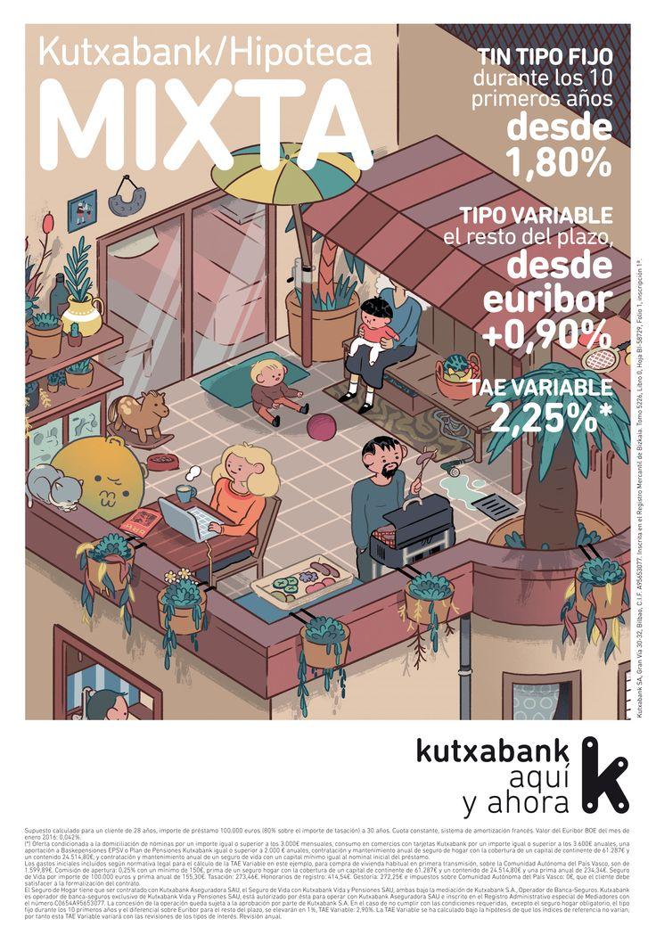 """Campaña nacional """"Hipotecas"""" para Kutxabank. Hipoteca Mixta."""