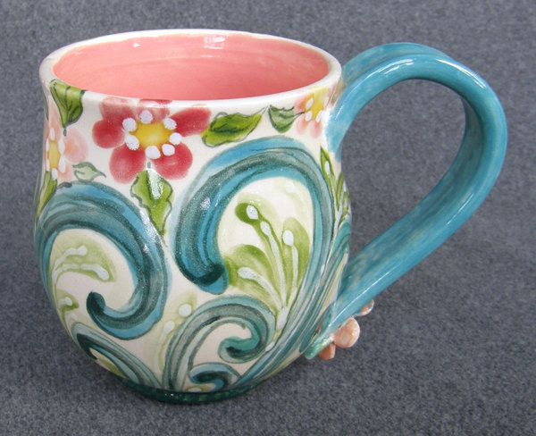 Best 25 hand painted mugs ideas on pinterest painted for Ceramic mural paintings
