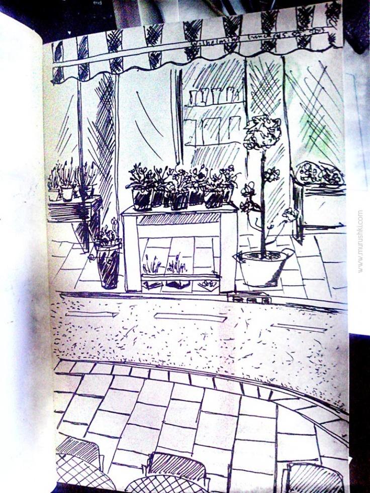 #amsterdam flower shop #sketch by @Julia Gunko