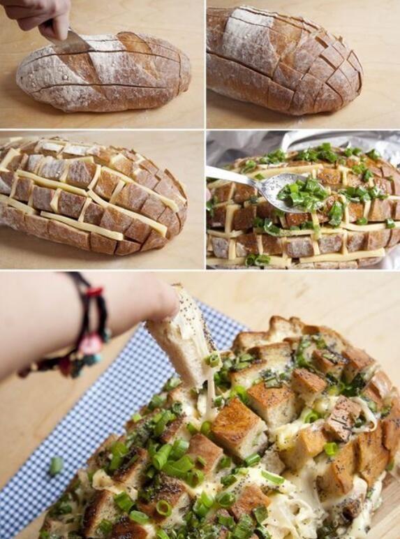 cheesy bread, could add bacon.