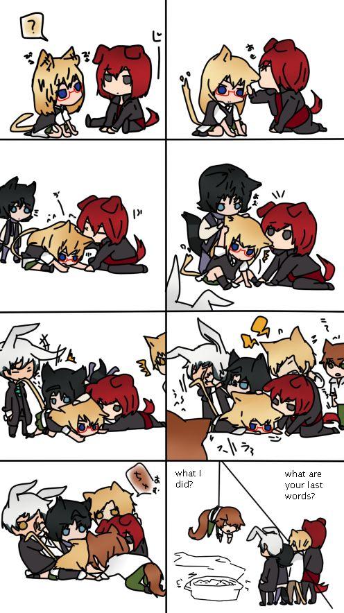 Amour Sucre by anime1448 on DeviantArt   que kawaii se la quieren comer ..... no chicos no maten a kentin
