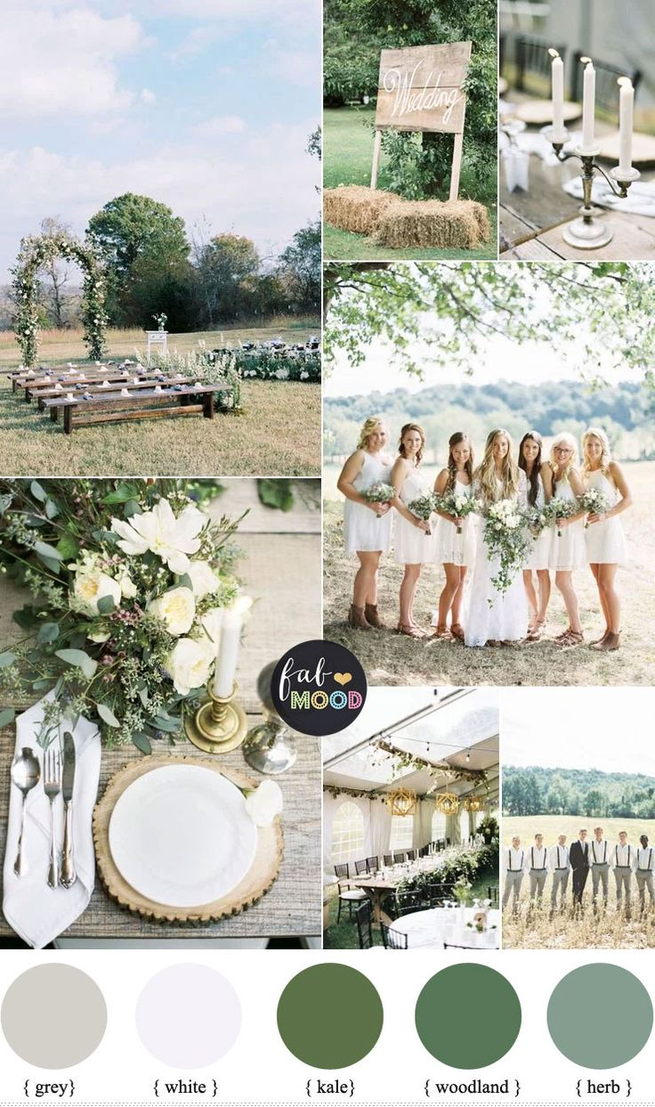 If you're thinking of trying a rustic,country wedding as your theme, we've got some great rustic wedding theme inspiration for you...focus on natural greens
