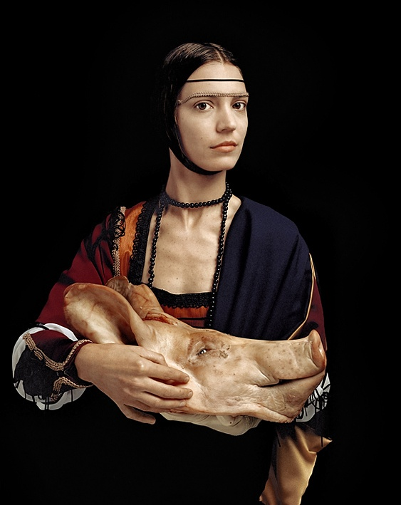 """lady with an ermine With that, davinci's """"lady with an ermine"""" immediately popped into my head and a scheme was born the best part is, family and friends not only applauded my mangling of the masterwork, but are now requesting their own which, i think, speaks volumes to the familial awkwardness from which this sprang""""."""