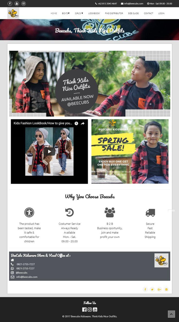 Beecubs Kidswear - Website dengan desain elegan minimalis untuk bisnis wardrobe anak. Bisnis tampil lebih profesional dan berkelas.