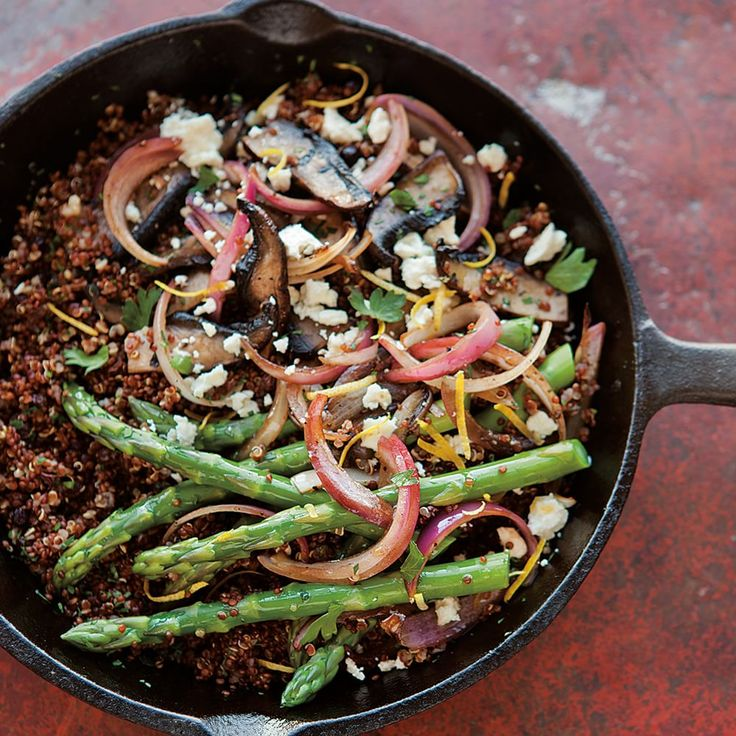 Red Quinoa with Asparagus, Portobellos and Feta | Williams-Sonoma
