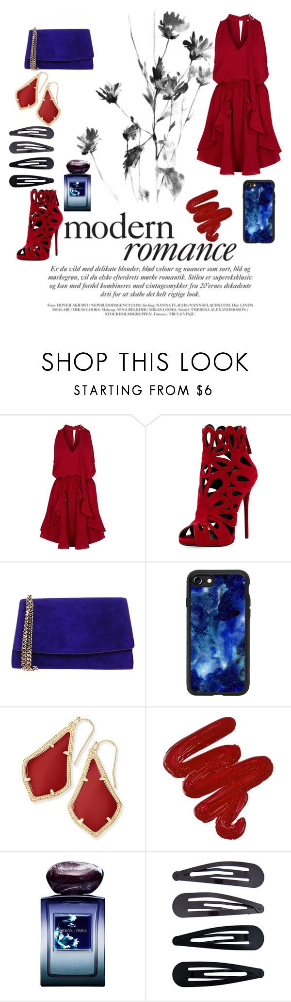 """""""fit3"""" by rinashawn ❤ liked on Polyvore featuring Finders Keepers, Giuseppe Zanotti, Sergio Rossi, Casetify, Kendra Scott, Obsessive Compulsive Cosmetics, Giorgio Armani and Accessorize"""