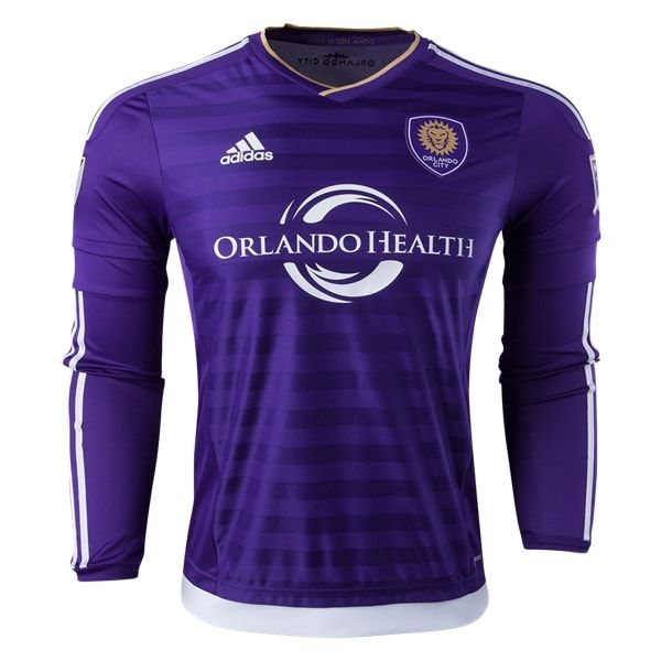 adidas Orlando City SC Long Sleeve Authentic Home Jersey 2016