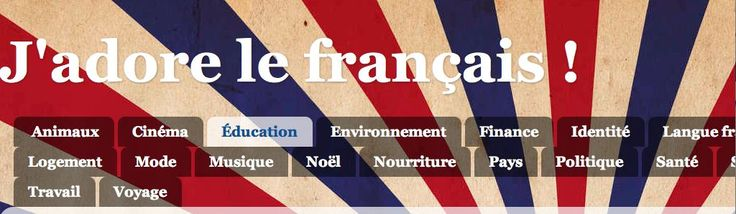 French teacher website with a number of useful resources by theme