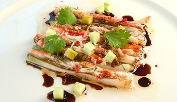 Norwegian King Crab with Garlic, Soy Sauce and Spring Onion