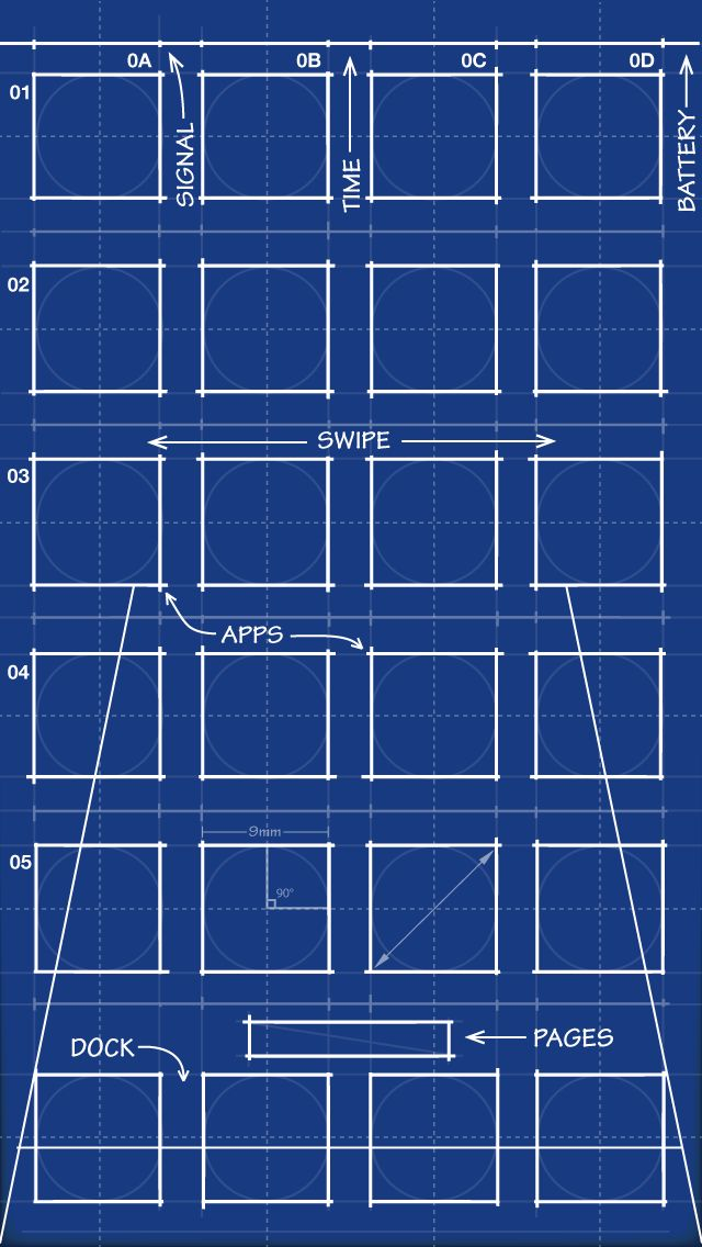 iphone 5 blueprint wallpaper