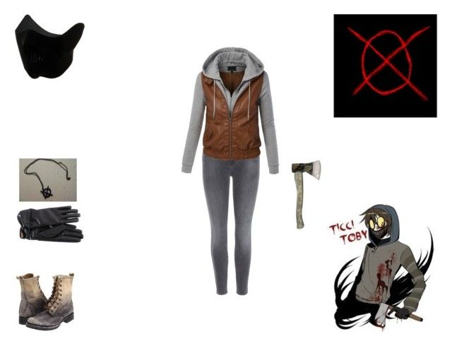 ticcy toby by mayleneholm on Polyvore featuring LE3NO, J Brand and Frye