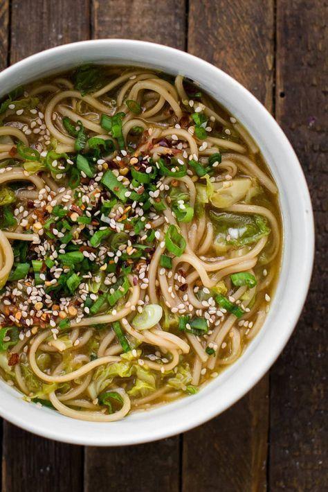 Cabbage Ginger Noodles