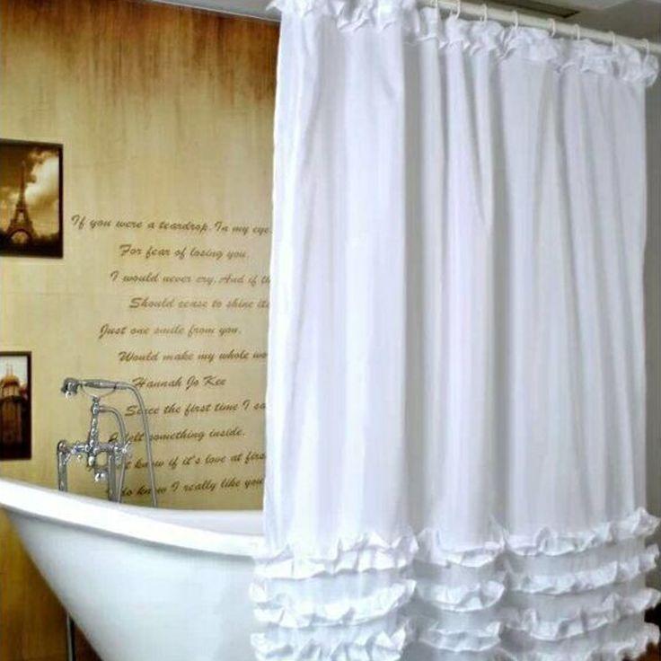 free tenda della doccia pizzo volant disegno bagno tenda cm bagno tessuto in with tende da bagno ...