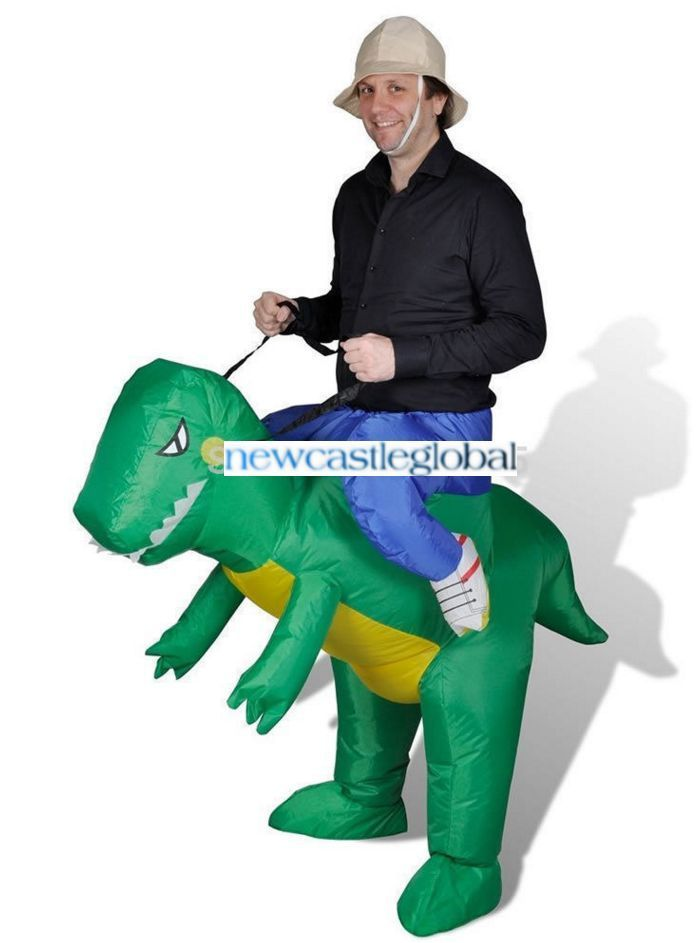 Walking With Dinosaur Air Fan Blow Up Inflatable Suit Mascot Costume Cosplay 814c7b2807cf
