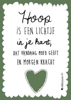 hoop is een lichtje in je hart