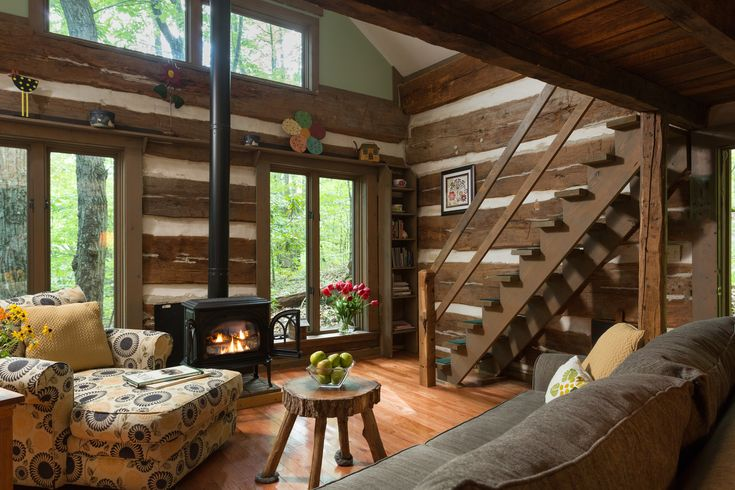 Strong Wolf Cabin - Hocking Hills cabins pet friendly - and is the most secluded and most popular cabin at the Inn & Spa at Cedar Falls.