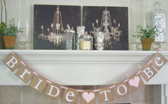 Wedding sign bridal shower decorationsBridal by lolaandcompany