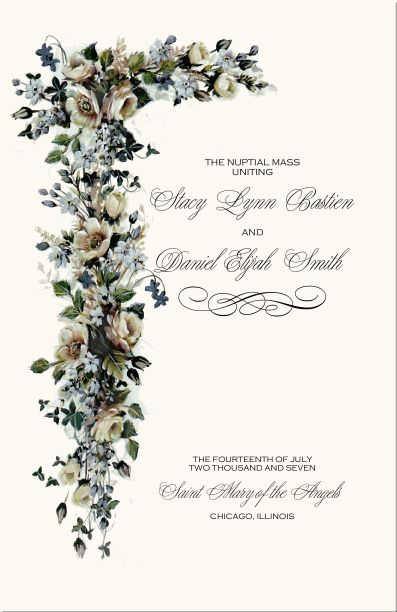 Catholic Wedding Ceremony-Catholic Wedding Traditions-Wedding Program Examples Wording-Catholic Wedding Programs-Wedding Directories-Order of Service-Church Directories-Program Covers