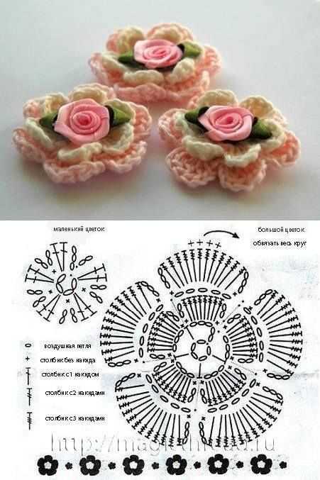 Flor de ganchillo. Crochet flower.