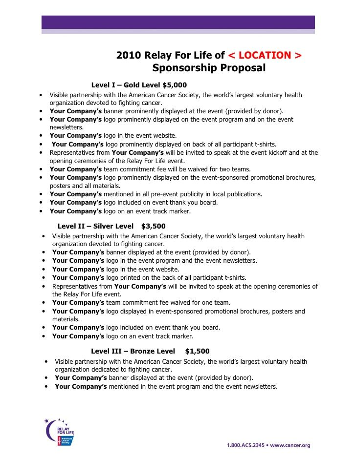 Free Racing Sponsorship Proposal Template Sponsorship Proposal