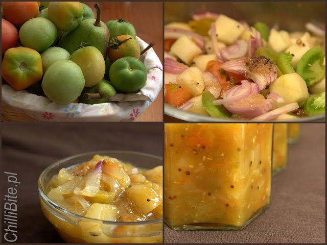 ChilliBite: Złoto-jesienny chutney z gruszek i zielonych pomidorów z imbirem i kolendrą