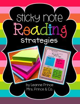 Sticky Note Reading Strategies!
