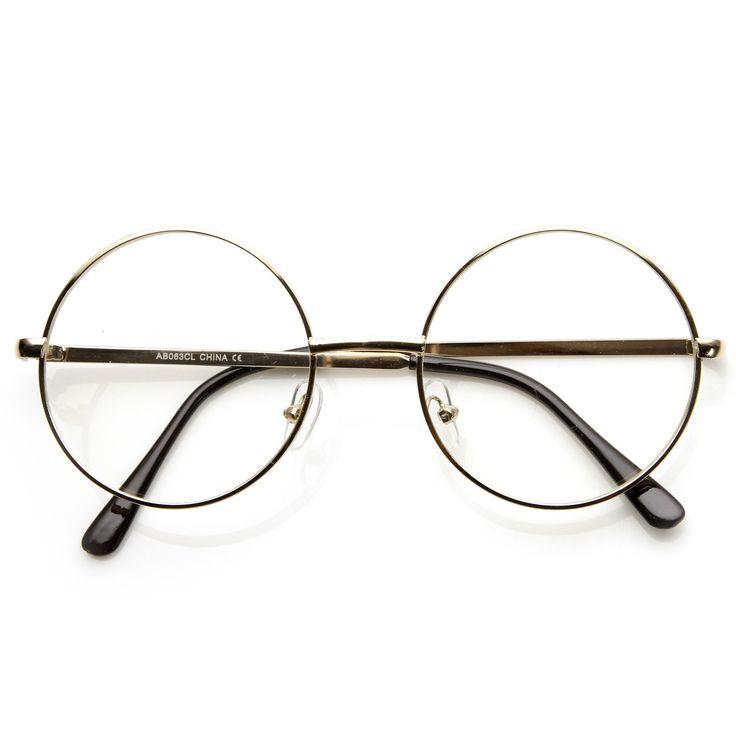 Vintage Lennon Inspired Clear Lens Round Frame Glasses 9222 | zeroUV