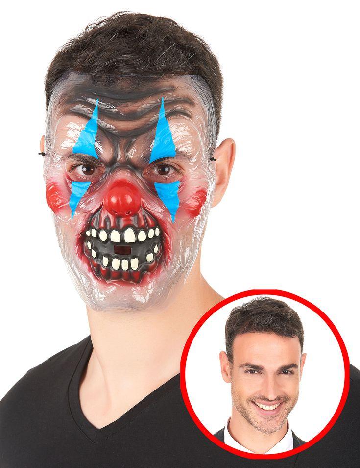 Maschera Clown Bicolore Adulto: Questa maschera da Clown Bicolore per adulto, rappresenta un Clown malefico sorridente, perfetta per completare un travestimento in occasione di feste e serate a tema.Si regge sulla testa grazie a un...