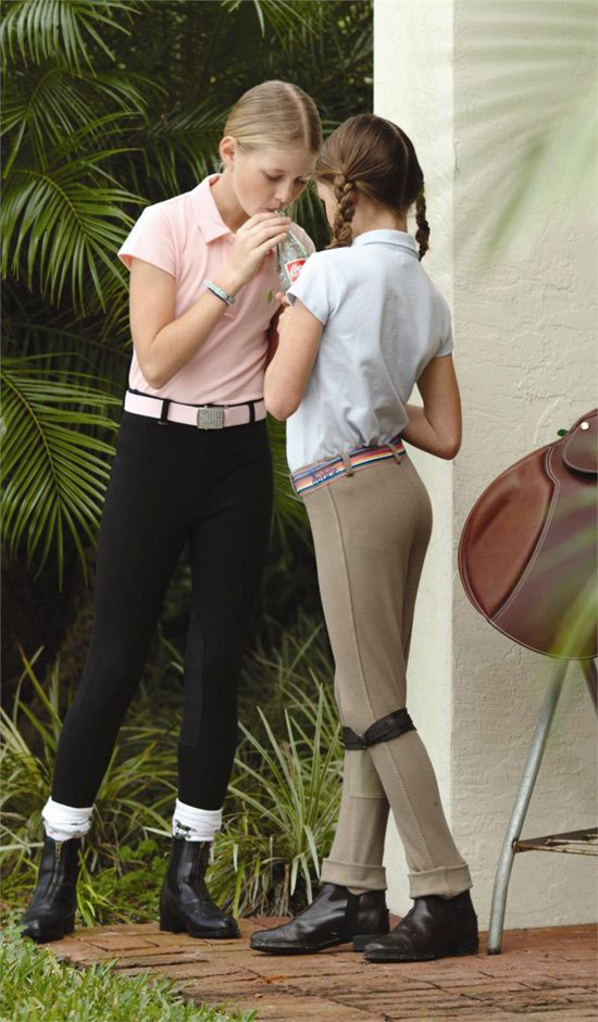 Young teen in jodhpurs obvious, you