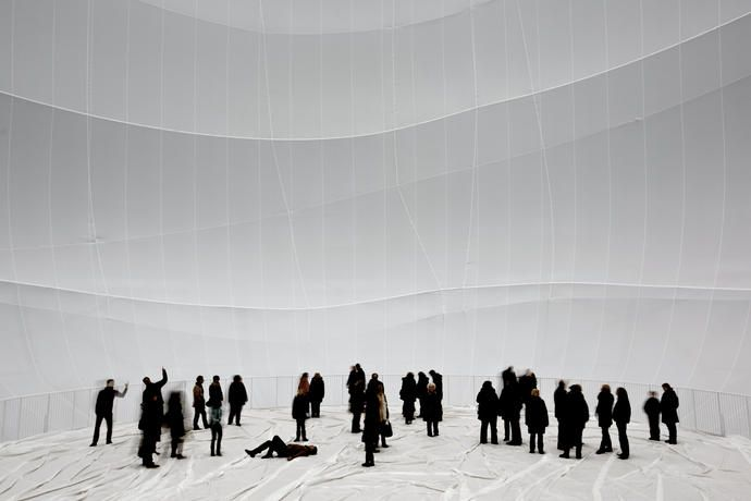 Big Air Package, Gasometer Oberhausen, Germany, 2010-13 - Christo and Jeanne-Claude