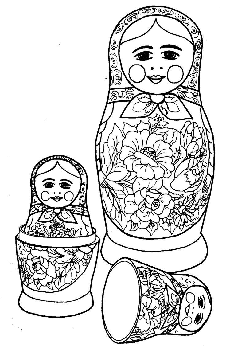 babushka coloring pages - photo#18