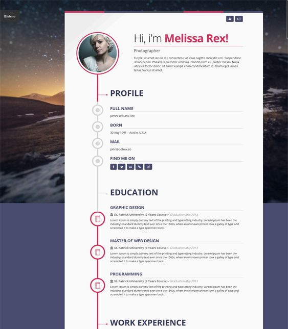 8 best 8 more of the best resume  vcard   u0026 cv wordpress themes images on pinterest