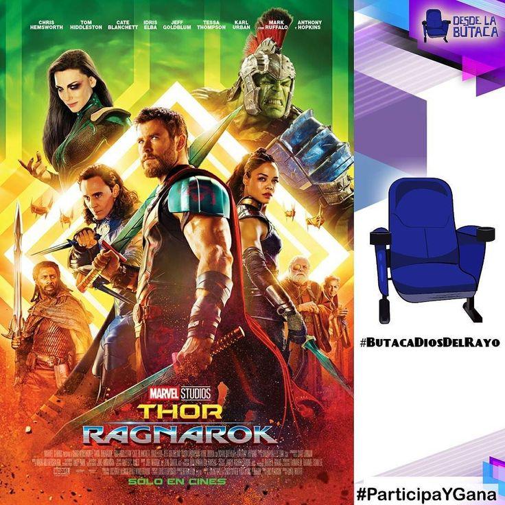 #ParticipaYGana fabulosos premios de #thorragnarok con #desdelabutaca  1- Sígue en todas las redes a @cinecolorve y @desdelabutacave  2- Responde: Quien ganara en el enfrentamiento entre #Thor y #Hulk? 3- Menciona 5 amigos 4- Listo ya estás participando!  Podrás ser una de los ganadores de un Suéter o franela de la película #thorragnarok