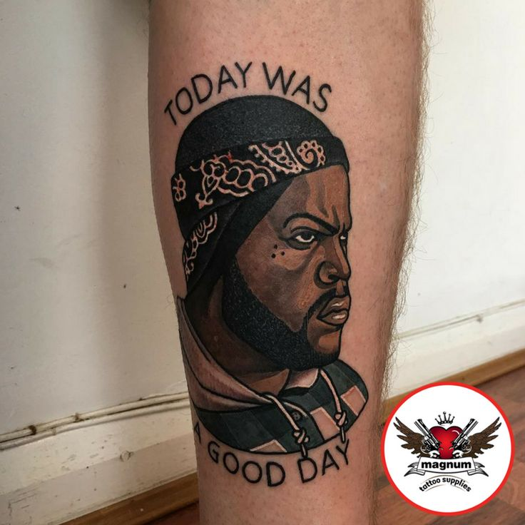 ''Today was a good day''  Niall Shannon's neotrad colour portrait created with #magnumtattoosupplies  Forgiven Tattoo  #taot #thebesttattooartists #uktta #neotradeu #neotraditionaltattoo #neotrad #icecube