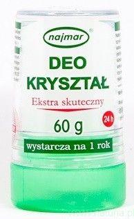 DEO KRYSZTAŁ (60g) naturalny dezodorant AŁUN - ekstra skuteczny, wystarcza aż na rok - Sklep Internetowy NATURIA.PL