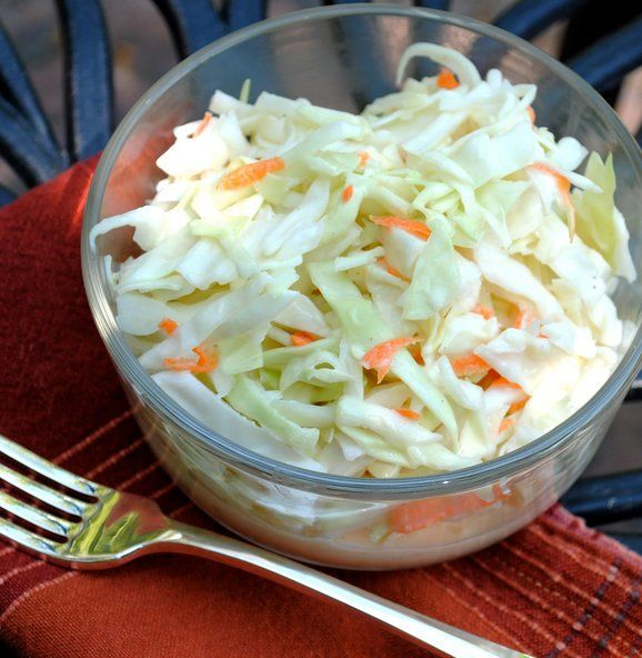 Coleslaw recipe, to go with the pulled pork sandwiches I'm making in the crockpot!
