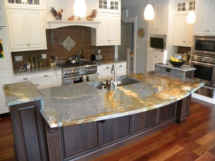 Elegant Modern Kitchen Design With Gray Granite Countertops With Granite Countertop  Edges Ogee Ideas