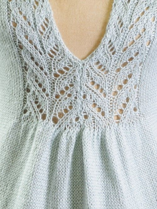 Lace Insertion of the Sylvia Sweater